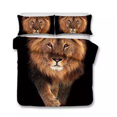 3D Art Design Lion Pattern Bedding Set Twin Full Queen King Size Pillow Case Quilt Cover Duvet Cover 3d Lion Bedding 3D Art Bedding Set Online with $64.49/Set on Beddingsets3d's Store | DHgate.com Large Sofa Pillows, Large Pillow Cases, Large Cushion Covers, Oversized Pillows, Couch Pillow Covers, King Size Pillows, 3d Bedding Sets, Luxury Bedding Sets, Comforter Sets
