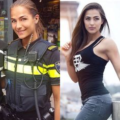 Notchti Peralta: A police officer of the Netherlands turned Model Idf Women, Military Women, Gorgeous Women, Amazing Women, Mädchen In Uniform, Female Soldier, Army Soldier, Military Girl, Girls Uniforms