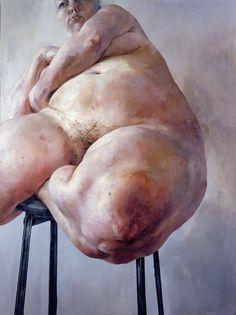 Prop, 1992, 152 x 121.5cm ⓒJenny Saville. Courtesy Gagosian Gallery.