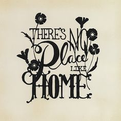 Theres No Place Like Home - Scherenschnitte - Free Paper Cutting Pattern