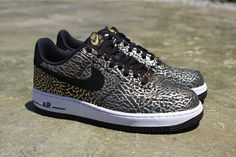 """Nike Air Force 1 Low """"Gold Elephant Print"""" (US Release Date & Detailed Pictures)"""