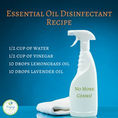 Essential oil disinfecting spray