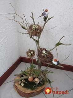Easter is coming! - Easter is coming! – DIY craft ideas – ideas # am - Wood Crafts, Diy And Crafts, Craft Projects, Projects To Try, Craft Ideas, Deco Floral, Nature Crafts, Spring Crafts, Easter Crafts