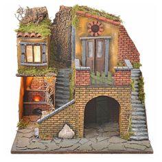Borgo presepe napoletano stile 700 con forno e luce 47x50x41   Arte e antiquariato, Arte sacra, Statuine e presepi   eBay!