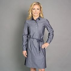 Dámské košilové šaty Safari Willsoor 6507 v antracitové barvě, Willsoor