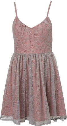 Topshop Lace Overlay Strappy Dress 12 40 Lilac Pink Floral Bodice Party Dress