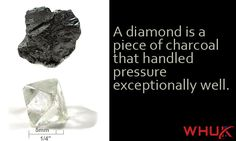 """""""A diamond is a piece of charcoal that handled pressure exceptionally well."""" #MotivationMonday"""