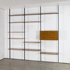 Mid-Century Walnut Shelving Unit by U.P. Wieser for Wohnbedarf for sale at Pamono