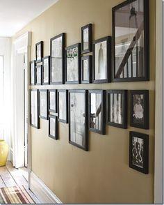 A wall of family photos
