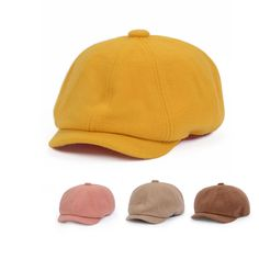 Women Men Vintage Warm Newsboy Hat Woolen Tweed Gatsby Cabbie Ivy Cap Goldtop #Goldtop #NewsboyCabbie