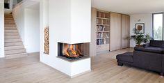 Wohnzimmer Mit Kamin Modern #2