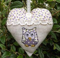 SewforSoul: Embroidered Linen Heart