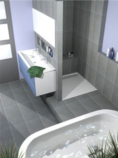 Dreaming of an extravagance or designer bathroom? We've gathered together plenty of gorgeous master bathroom tips for small or large budgets, including baths, showers, sinks and basins, plus bathroom decor ideas. Bathroom Design Small, Bathroom Layout, Bathroom Interior Design, Modern Bathroom, White Bathrooms, Luxury Bathrooms, Master Bathrooms, Dream Bathrooms, Bathroom Designs