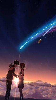 君の名は your name Your Name Wallpaper, Couple Wallpaper, Animes Wallpapers, Cute Wallpapers, Miyazaki, Kimi No Na Wa Wallpaper, Name Drawings, Your Name Anime, Love Cartoon Couple
