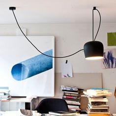 FLOS - designerska lampa wisząca LED AIM, czarna 3510271