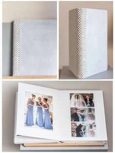 The softness of the suede mixed with the rough textures of the woven offer warm and reassuring sensations. the choice of the colours make ths book fresh and delicate. ( by karen Massey) #graphistudio #originalweddingbook #madeinitaly #weddingphotography http://www.graphistudio.com/en_US/home