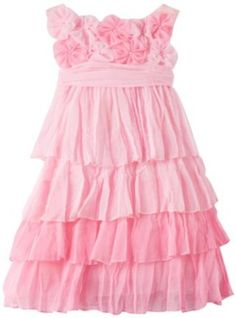 Biscotti Baby-Girls Infant Blushing Rose Dress, Pink, 18 Months Biscotti. $80.00