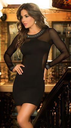 Las 187 Mejores Imágenes De Vestidos Negros Vestidos