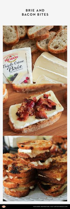 These #Brie & candied #bacon baguette bites by @domesticateme are guaranteed to be the center of attention at any gathering. #grilledcheese #gameday #appetizer