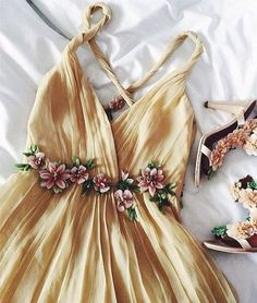 Backless Prom Dress,Prom Dresses,Cute Prom Dress,Sexy Prom Dress,Party Dress, Sleeveless Prom Dresses with Flowers