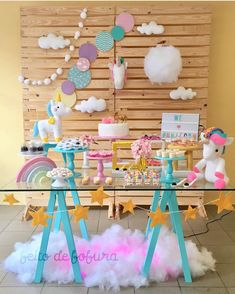 55 ideas birthday surprise ideas for him candy bars Unicorn Birthday Parties, Baby Birthday, Birthday Party Decorations, Anniversaire My Little Pony, Rainbow Parties, Fiesta Party, Diy Party, Party Ideas, First Birthdays