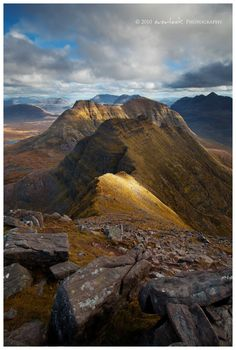 Beinn Alligin, Scotland Beinn Eighe is unusual amongst the Torridon mountains in…