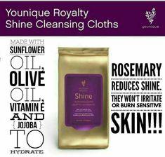 Younique Shine Cleansing Cloths, www.TheDivaDonna.com Remove makeup, clean face, nourish skin!