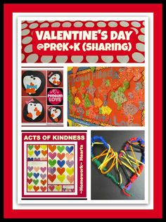 Valentine's Day in PreK + K (Sharing) A February wrap up