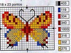 **Blog Amor Perfeito** Gráficos de ponto cruz: Borboletas