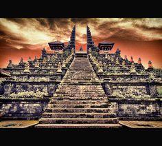 Besakih Temple, Bali by Eric Edouard Amilhat, via 500px.