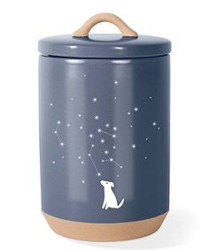 Fringe Studio Celestial Dog Beveled Treat Jar With Lid