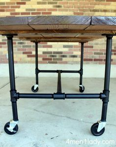 Attach wood under table