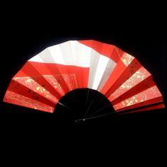 Japanese Fan Vintage Paper Fan Hand Fan Sensu by VintageFromJapan