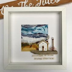 Wonderful Images Textile art fabric Thoughts Driftwood and textile art coastal driftwood cottage on a Driftwood Wall Art, Driftwood Projects, Pebble Painting, Pebble Art, Stone Painting, Box Frame Art, Reclaimed Wood Art, Crafts To Make And Sell, Wood Ornaments