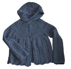 petra: Návod na háčkovaný svetrík.