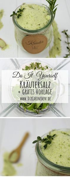 Recipe – Simply make herbal salt with basil, rosemary, oregano and thyme yourself - Modern Chutney, Kraut, Baking Ingredients, Cookie Dough, Herbalism, Easy Diy, Food And Drink, Make It Yourself, Cooking