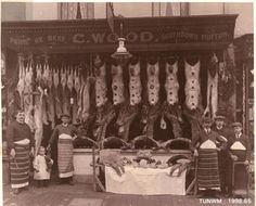 Butcher Shop (1908). Idea - framed old butchers shop photo for the wall
