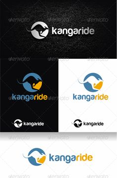 Kangaroo Logo Template — Vector EPS #turquoise #modern • Available here → https://graphicriver.net/item/kangaroo-logo-template/2335100?ref=pxcr