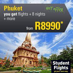 December hot offer Phuket flights + 8 nights from Student Flights, Go Your Own Way, Phuket Thailand, Touring, December, Youth, Adventure, Night, World