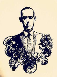Lovecraftian, Brushpen and paper by kilometersror