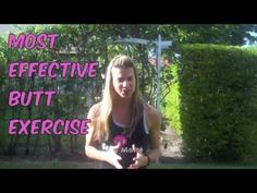 This is one of the Most Effective #Butt #Exercises.  And you don't need any equipment.