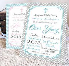 Personalised 'Christening' Invitations