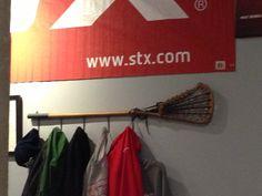 Idea for my lacrosse fanatic's bedroom.