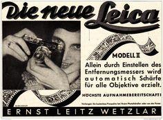 Original-Werbung/ Anzeige 1932 - LEICA KAMERA / LEITZ - WETZLAR - ca. 140 x 100 mm