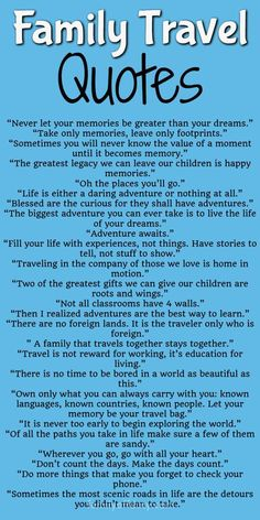157 Best Family Vacation Quotes images in 2019