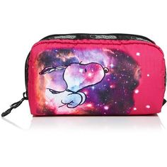 LeSportsac Rectangular Fly Away Cosmetic Case ($30) ❤ liked on Polyvore featuring beauty products, beauty accessories, bags & cases, galaxy snoopy small, purse makeup bag, lesportsac makeup bag, toiletry kits, makeup purse and cosmetic bags