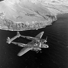 P-38 over the Aleutian Islands