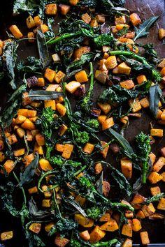 Winter Squash Carbonara with Broccoli Rabe and Sage | halfbakedharvest @hbharvest