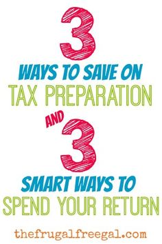 3 Smart Ways to Save on Tax Preparation and 3 Smart Ways to Spend Your Return