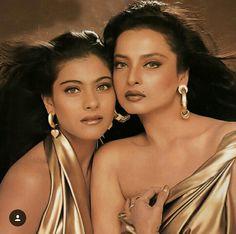 Throw back photo of Rekha ji with Kajol